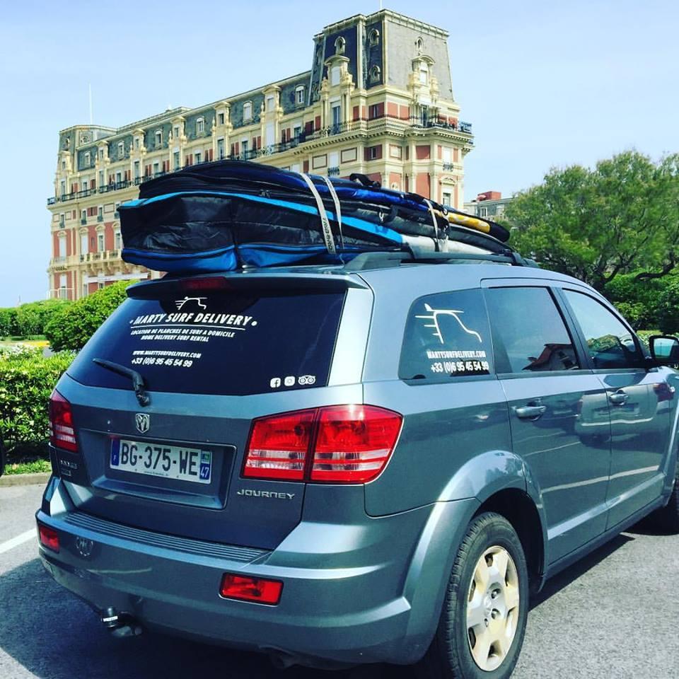 livraison planche de surf à Biarritz
