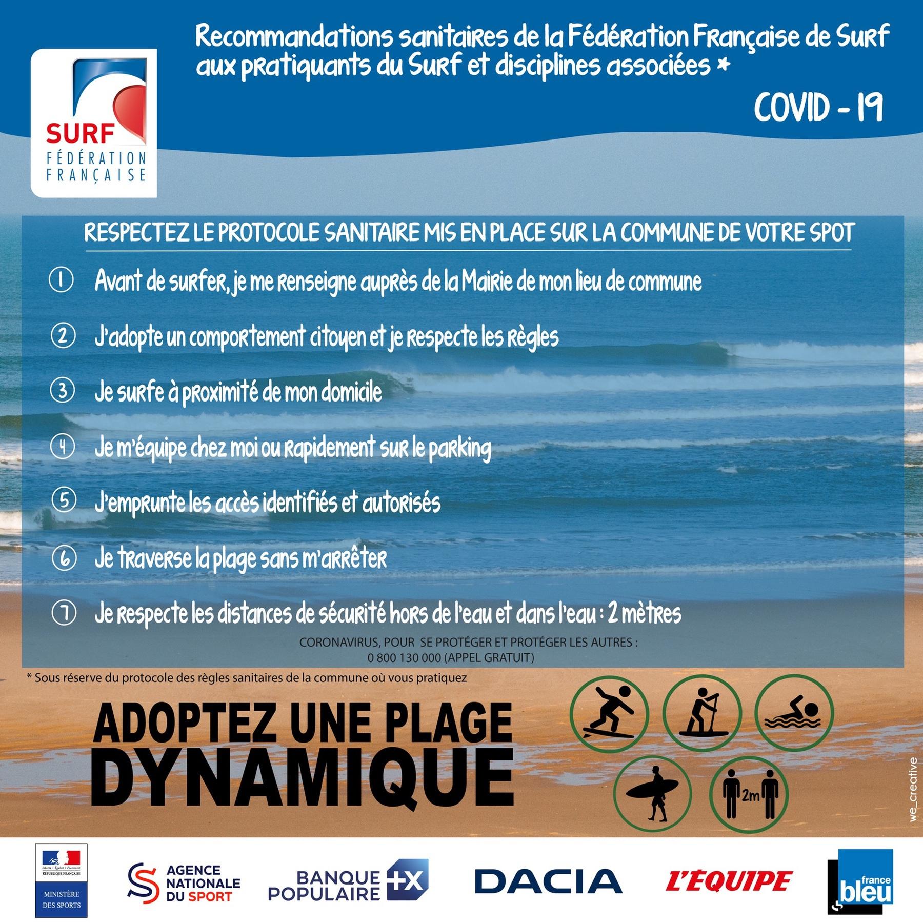 recommendation-sanitaire-fédération-française-de-surf-plage-dynamique