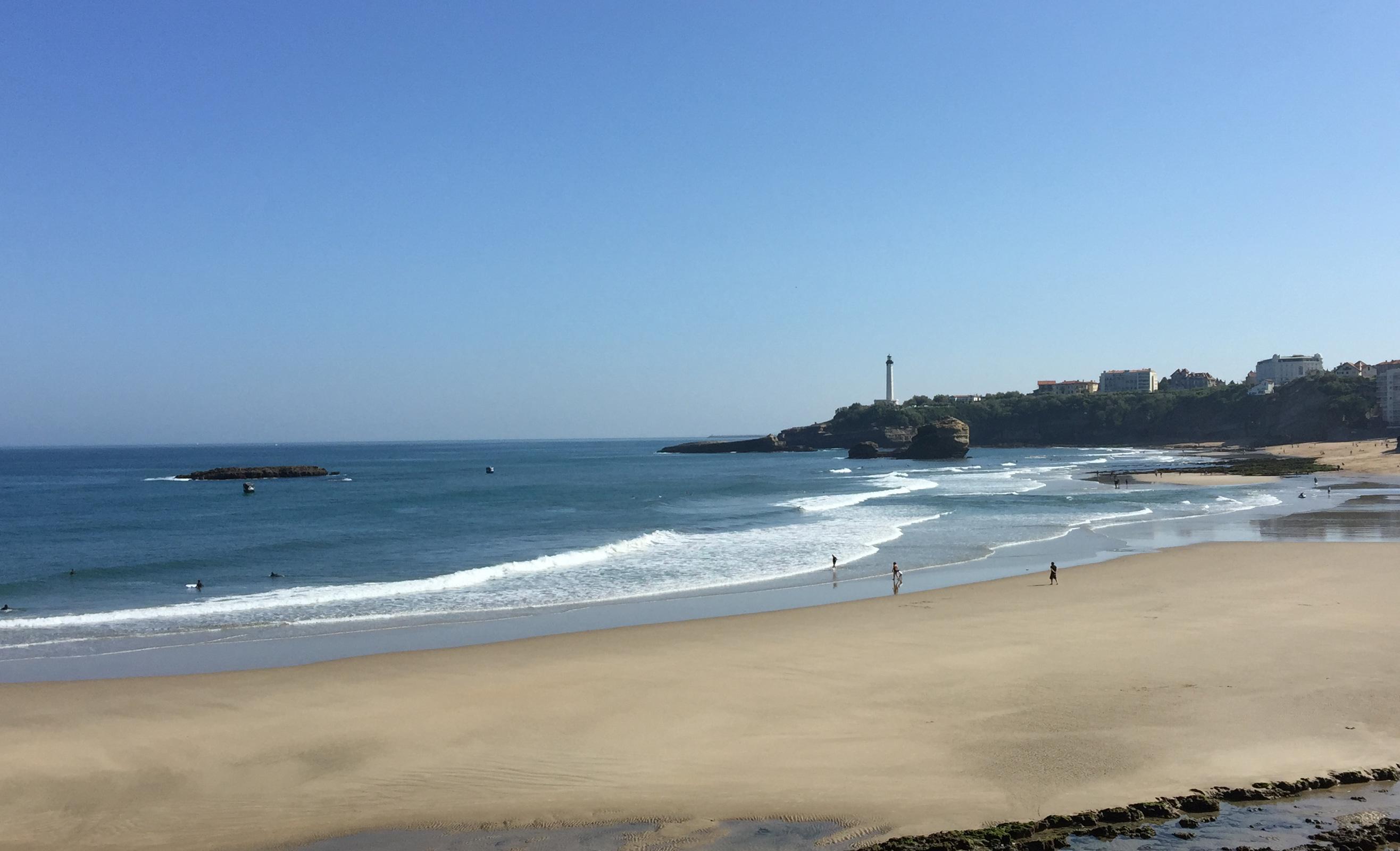 spot de surf de la grande plage biarritz