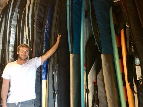 Stockage planches de surf