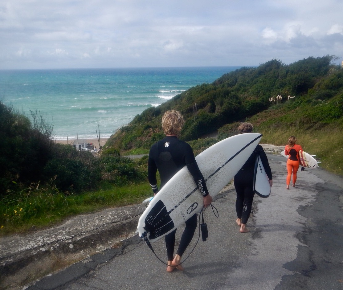 where to surf in biarritz when the waves are too big